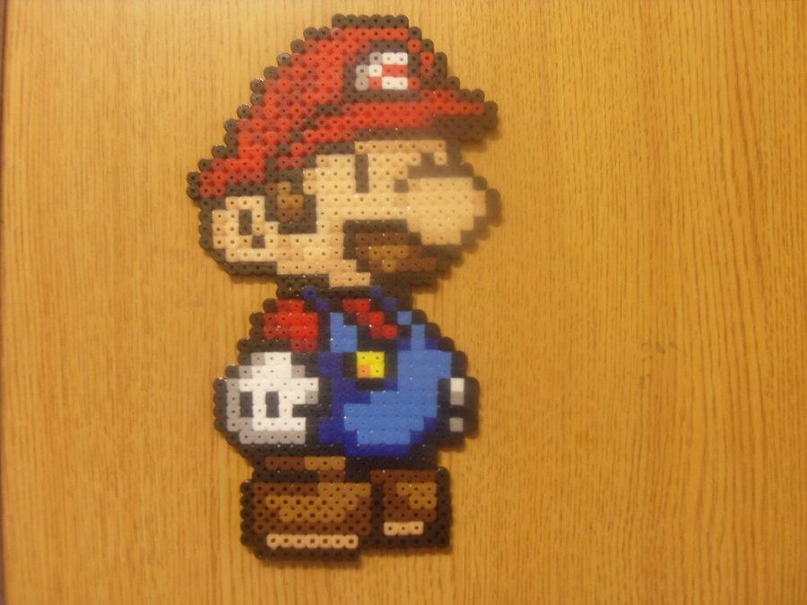 "Figure 28: ""Perler Mario,"" a craft by DeviantArt user Biddehdude."