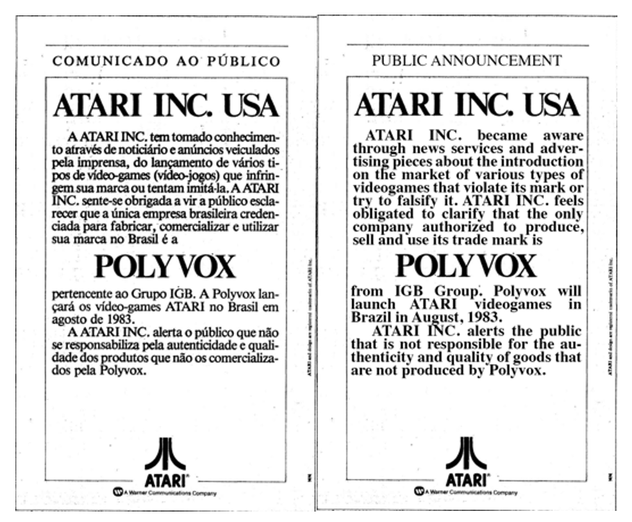 The first time the company addressed aspiring Brazilian players was through  an announcement that there were clone systems in stores and only its  machine was ... b0334520f8a