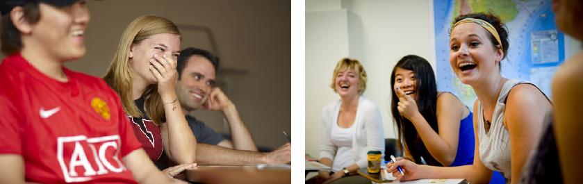 Réaction typique des étudiants. Notre mineure en études du jeu vidéo à l'Université de Montréal a une assez bonne proportion de femmes inscrites au programme…bon, d'accord, peut-être pas à ce point-là.